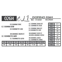 CL 1 DOMINO 026H