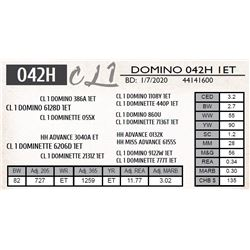 CL 1 DOMINO 042H 1ET