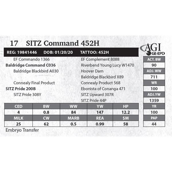 SITZ Command 452H