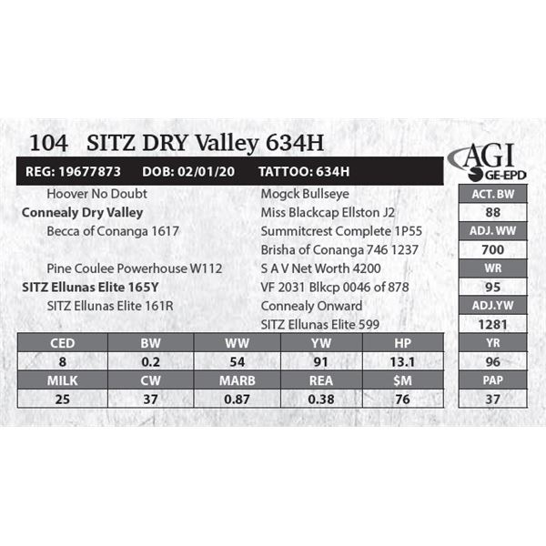 Sitz DRY Valley 634H