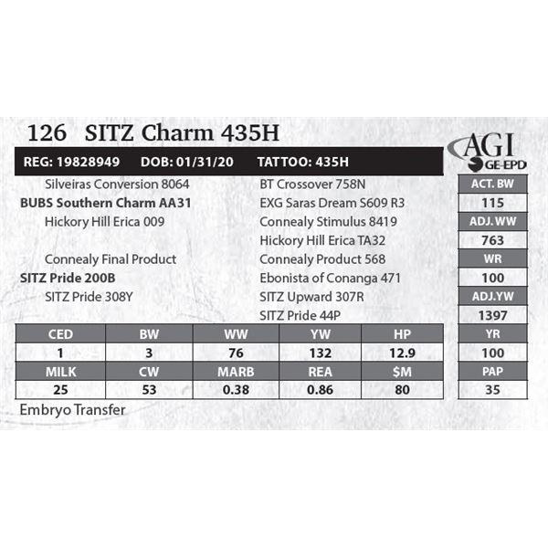 SITZ Charm 435H