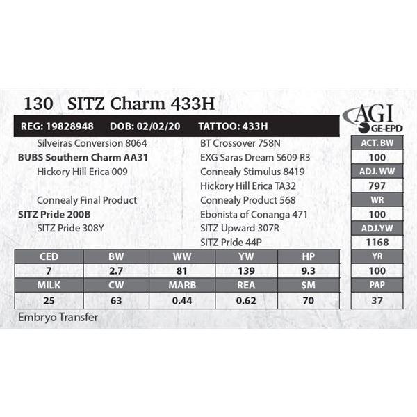 SITZ Charm 433H