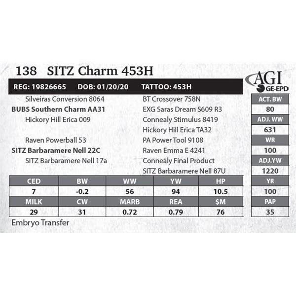 SITZ Charm 453H