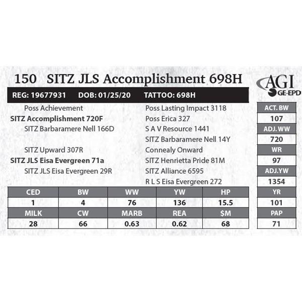 SITZ JLS Accomplishment 698H
