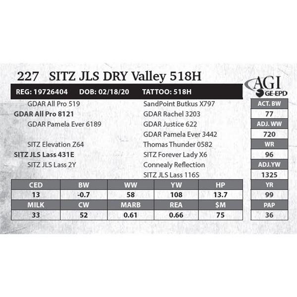 SITZ JLS Dry Valley 518H
