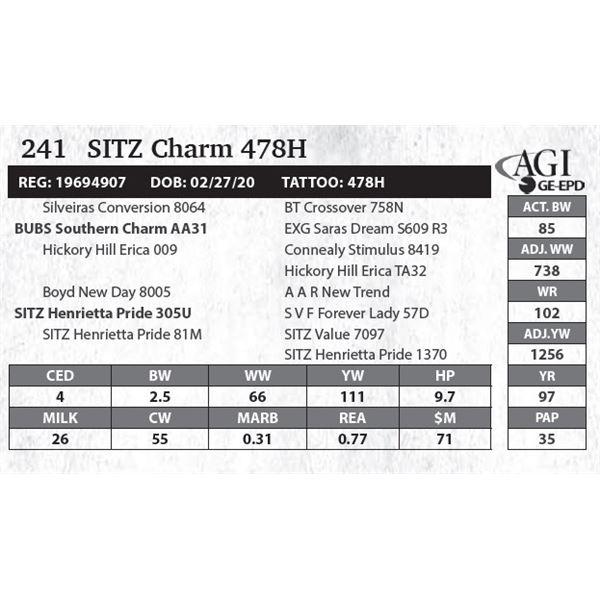 SITZ Charm 478H