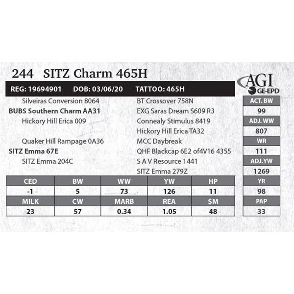 SITZ Charm 465H