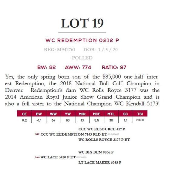 WC REDEMPTION 0212 P