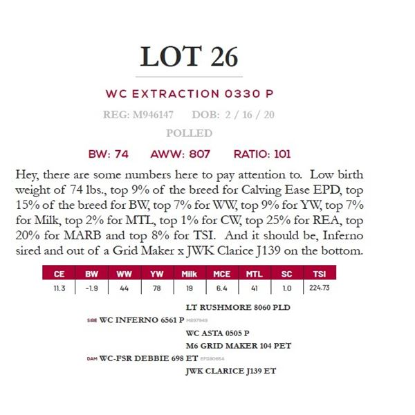 WC EXTRACTION 0330 P