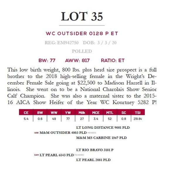 WC OUTSIDER 0128 P ET