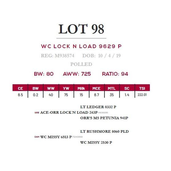 WC LOCK N LOAD 9629 P