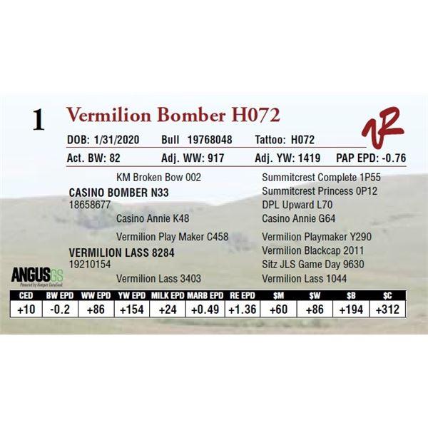 VERMILION BOMBER H072