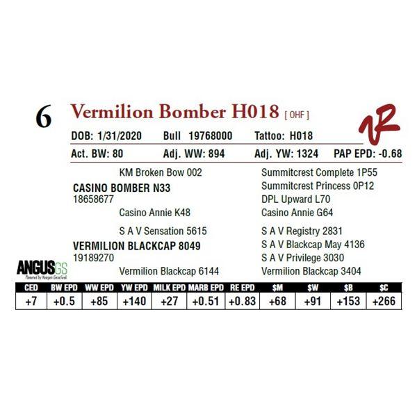 VERMILION BOMBER H018
