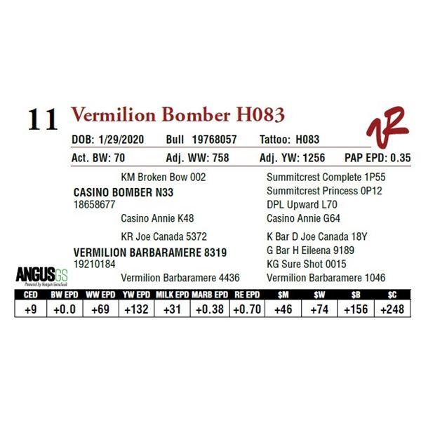 VERMILION BOMBER H083