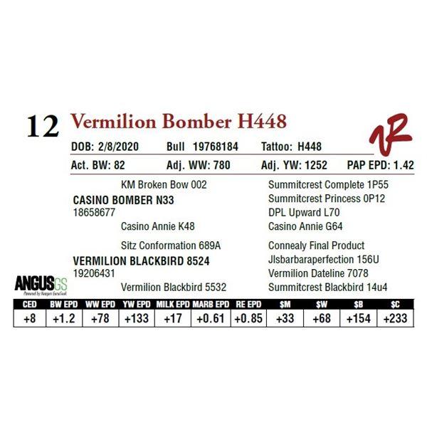 VERMILION BOMBER H448