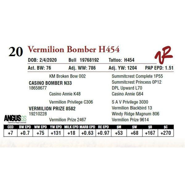 VERMILION BOMBER H454