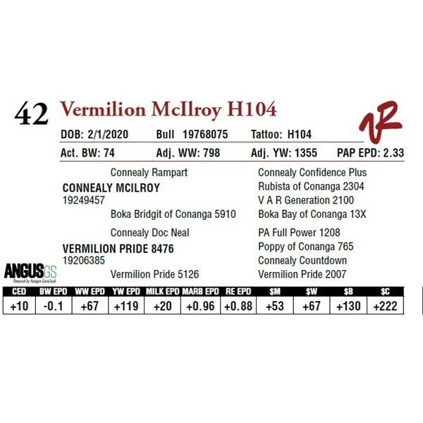 VERMILION MCILROY H104
