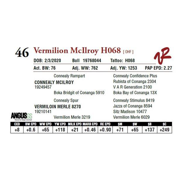 VERMILION MCILROY H068