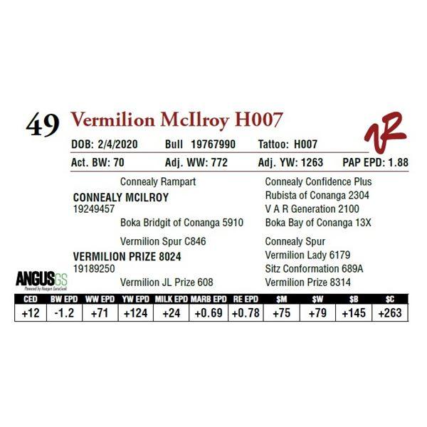 VERMILION MCILROY H007
