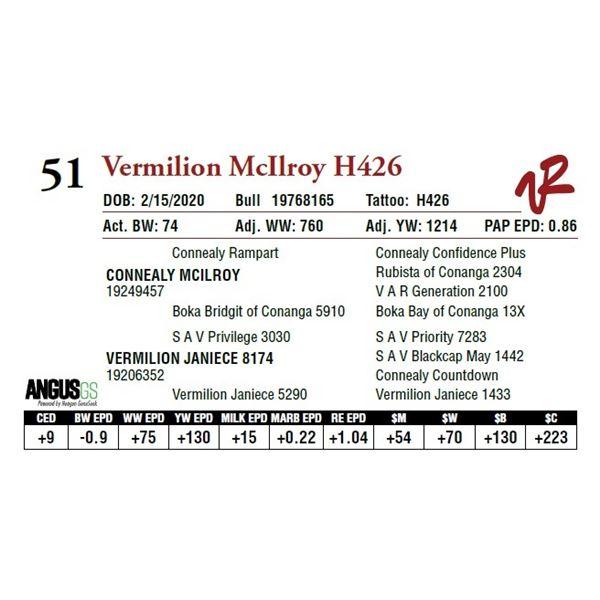 VERMILION MCILROY H426
