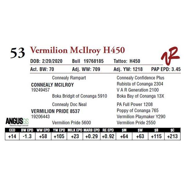 VERMILION MCILROY H450