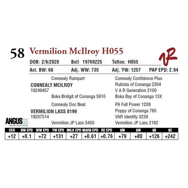 VERMILION MCILROY H055