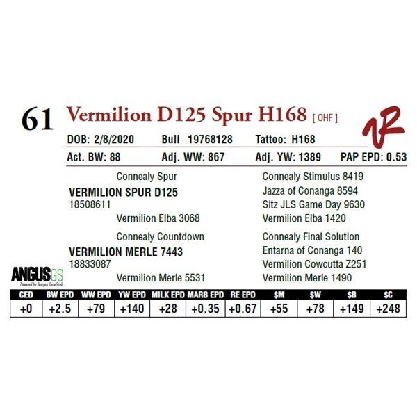 VERMILION D125 SPUR H168