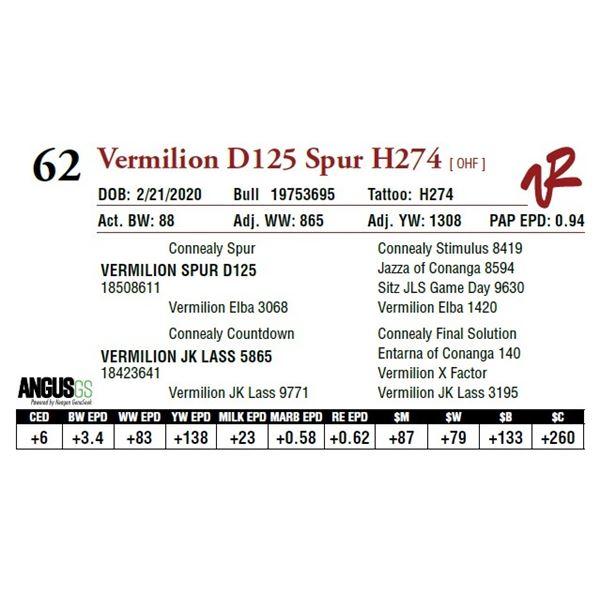 VERMILION D125 SPUR H274