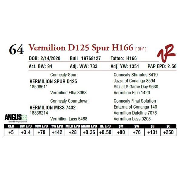VERMILION D125 SPUR H166