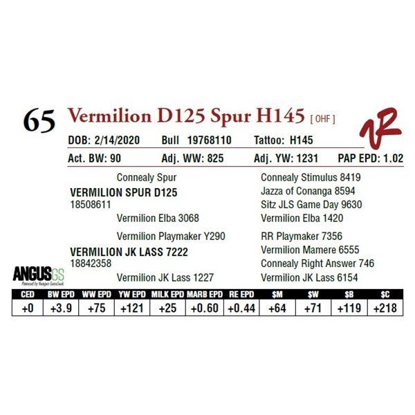 VERMILION D125 SPUR H145