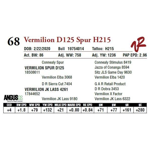 VERMILION D125 SPUR H215