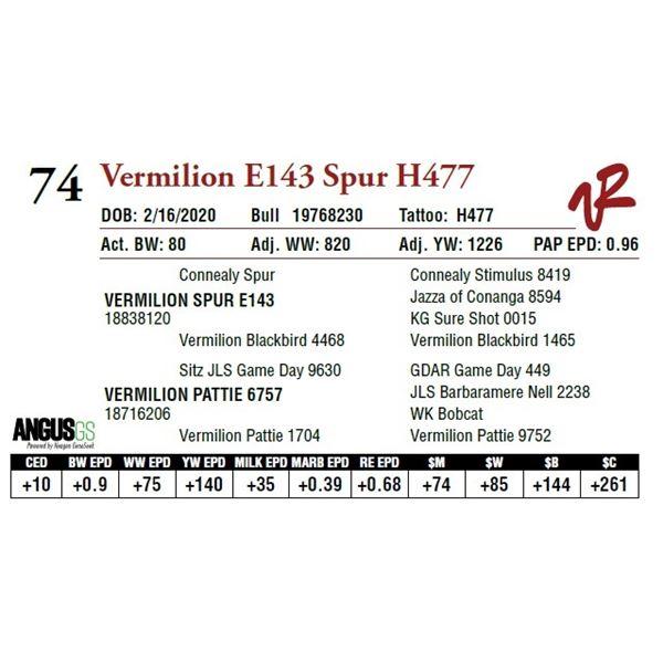 VERMILION E143 SPUR H477