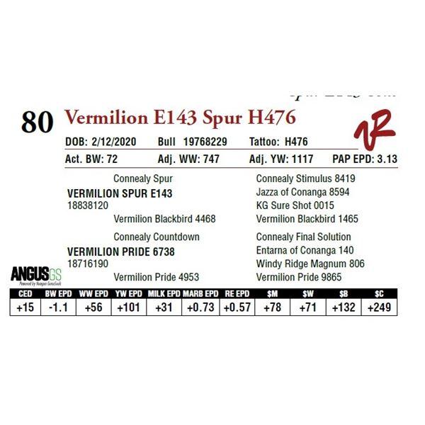 VERMILION E143 SPUR H476