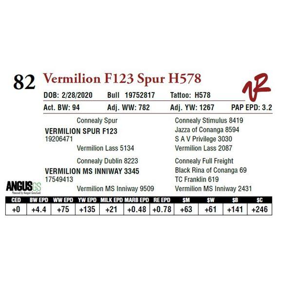 VERMILION F123 SPUR H578