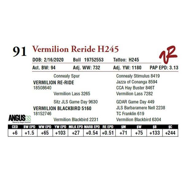 VERMILION RERIDE H245