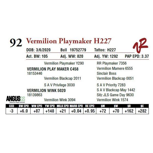 VERMILION PLAYMAKER H227