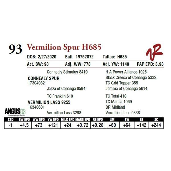 VERMILION SPUR H685