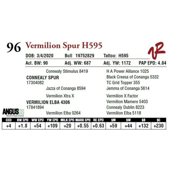 VERMILION SPUR H595