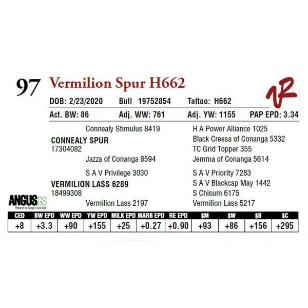 VERMILION SPUR H662