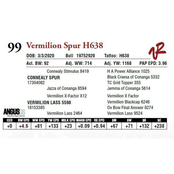 VERMILION SPUR H638