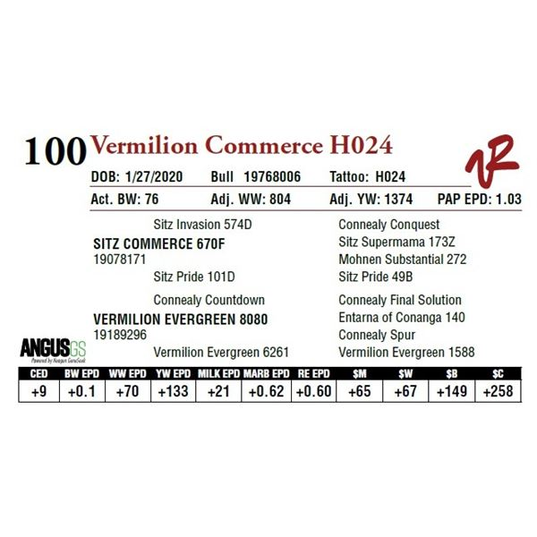 VERMILION COMMERCE H024