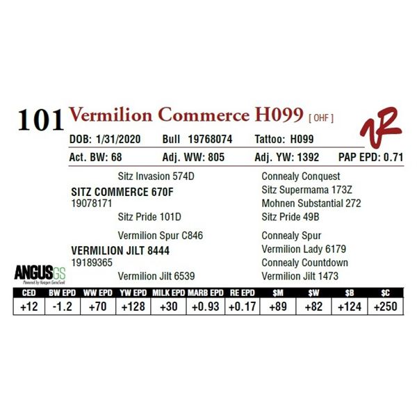 VERMILION COMMERCE H099