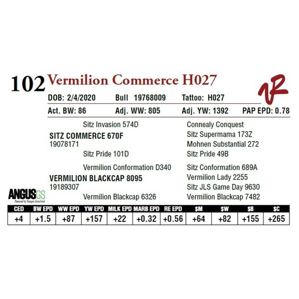 VERMILION COMMERCE H027
