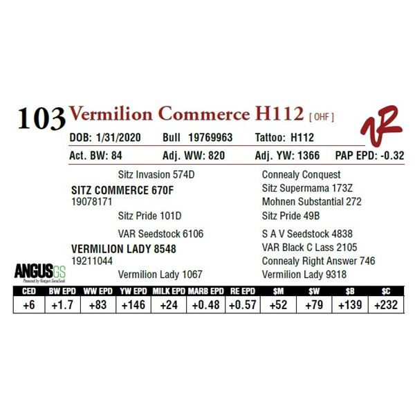 VERMILION COMMERCE H112