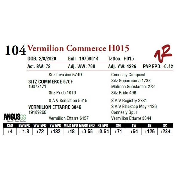 VERMILION COMMERCE H015