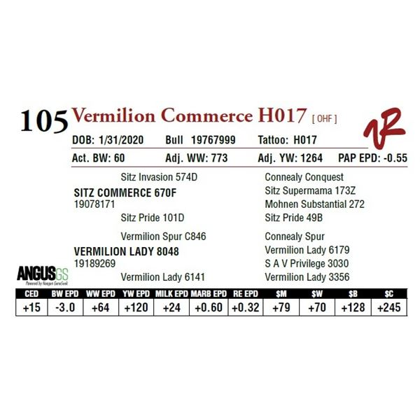 VERMILION COMMERCE H017