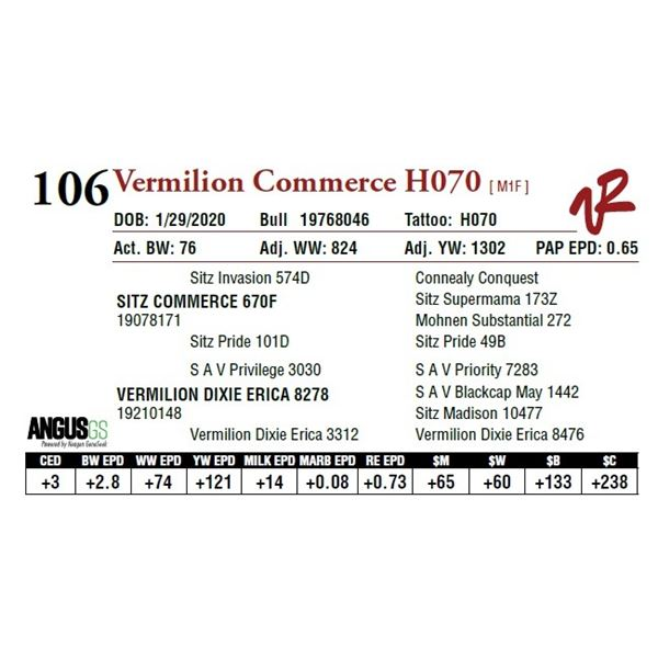 VERMILION COMMERCE H070