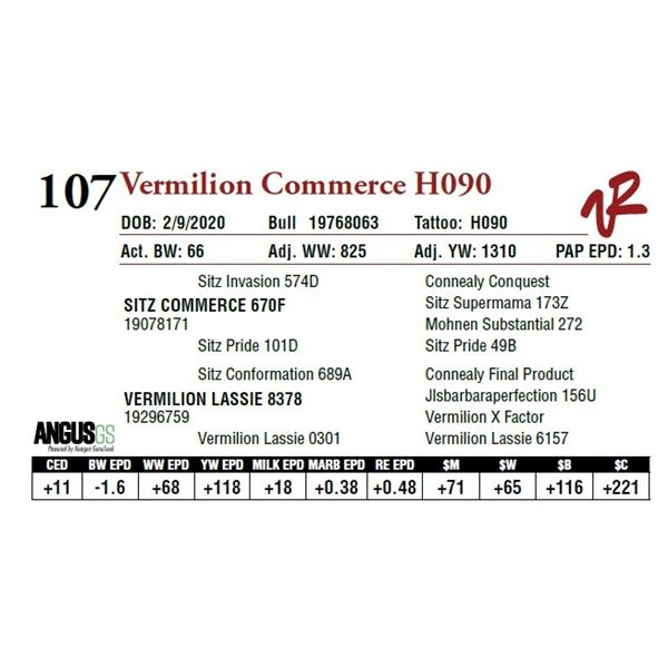 VERMILION COMMERCE H090