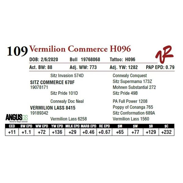 VERMILION COMMERCE H096