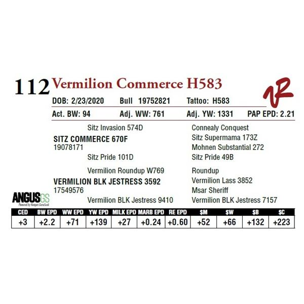 VERMILION COMMERCE H583